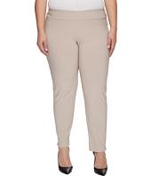 Krazy Larry - Plus Size Microfiber Long Skinny Dress Pants