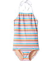 Toobydoo - One-Piece Pink Aqua Stripe Swimsuit (Infant/Toddler/Little Kids/Big Kids)