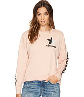 Converse - Split Star Wordmark Long Sleeve Crew Tee