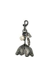 COACH - Studded large metal tea rose bag charm