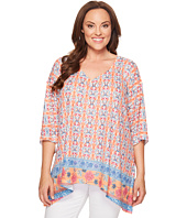 Nally & Millie - Plus Size Border Print Tunic
