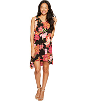 Tahari by ASL Petite - Petite Tiered Floral Chiffon Shift Dress