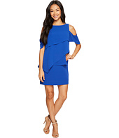 Tahari by ASL Petite - Petite Draped Cold Shoulder Shift Dress