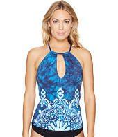 Lucky Brand - Batik Chic High Neck Tankini Top