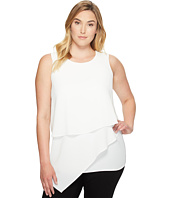 Vince Camuto Specialty Size - Plus Size Sleeveless Asymmetrical Layered Blouse