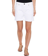 Parker Smith - High-Rise Fray Shorts in Blanc