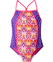 Speedo Kids - Diamond Geo Splice One-Piece Swimsuit (Big Kids)