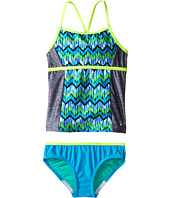Speedo Kids - Digi Zigzag Heather Two-Piece Tankini Swimsuit Set (Big Kids)
