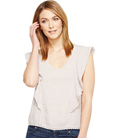 Michael Stars - Double Gauze V-Neck Flounce Sleeve Top
