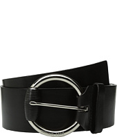 MICHAEL Michael Kors - 55mm Veg Leather Panel Belt on Wrapped Buckle