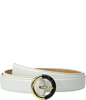 MICHAEL Michael Kors - 25mm Feather Edge Pebble Panel Belt on Metal Buckle