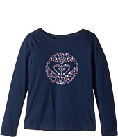 Roxy Kids - Never Ages Nice One Heart Tee (Toddler/Little Kids/Big Kids)