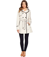 Betsey Johnson - Belted Trench Coat with Contrast Piping