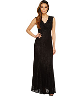 Tahari by ASL - Stretch Lace Wrapped Bodice Gown