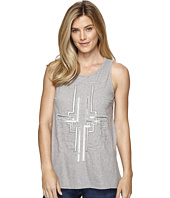 Dylan by True Grit - Mosaic Sequins Stitched and Beaded Tank Top