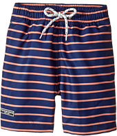Toobydoo - Orange & Navy Swimsuit - Short (Infant/Toddler/Little Kids/Big Kids)
