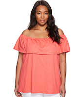 MICHAEL Michael Kors - Plus Size Off Shoulder Flounce Top