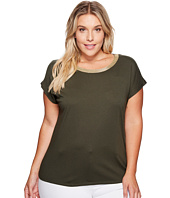 MICHAEL Michael Kors - Plus Size Metallic Trim Short Sleeve Box Top