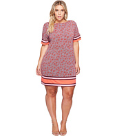 MICHAEL Michael Kors - Plus Size Augusta Border Short Sleeve Dress