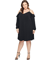 MICHAEL Michael Kors - Plus Size Cold Shoulder Chain Strap Dress