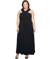 MICHAEL Michael Kors - Plus Size Cross Neck Dress Maxi