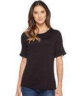 MICHAEL Michael Kors - Woven Pleated Sleeve Tee