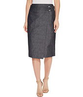 Ellen Tracy - Faux Wrap Belted Skirt