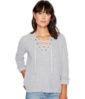Jack by BB Dakota - Willard Marled Sweater with Lace-Up Detail