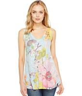 Nally & Millie - Floral Print V-Neck Tank Top