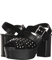The Kooples - Jessie - Mixed Velvet and Leather Sandals with Studs
