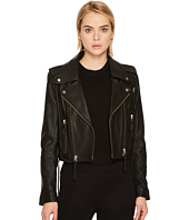 The Kooples - Leather Jacket with Stud Details and Leather Laces