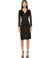 Francesco Scognamiglio - Long Sleeve V-Neck Twist Front Dress