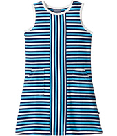Toobydoo - Blue Stripe Alexia Dress (Toddler/Little Kids/Big Kids)