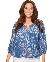 Lucky Brand - Plus Size Exploded Floral Peasant Top