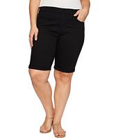 NYDJ Plus Size - Plus Size Briella Shorts in Black
