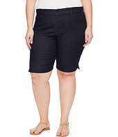 NYDJ Plus Size - Plue Size Christy Shorts in Dark Enzyme Wash