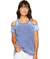 Allen Allen - Short Sleeve Cold Shoulder Crew Top
