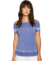 Allen Allen - Short Sleeve Off the Shoulder Crew