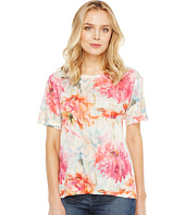 Nally & Millie - Floral Print Burnout Tee