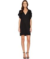 Versace - Stud Trimmed Slit Sleeve Dress
