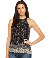 Roper - 1109 Rayon Border Print Halter Neck Tank Top