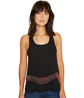 Roper - 1139 Solid Black Georgette String Tank Top