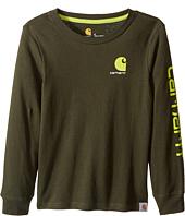 Carhartt Kids - CB Long Sleeve Logo Tee (Little Kids)