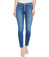 Hudson - Ciara High-Rise Ankle Super Skinny Buttonfly Five-Pocket Jeans in Rumors