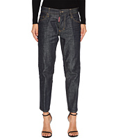 DSQUARED2 - Boyfriend Dark Wash Jeans in Blue