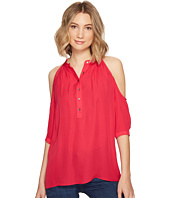 Nicole Miller - Silk Cold Shoulder Blouse