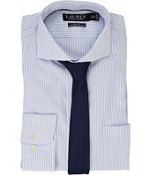 LAUREN Ralph Lauren - Stretch Slim Fit Pinpoint English Spread Collar with Pocket Dress Shirt