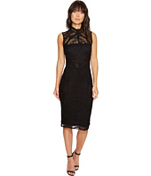 Nicole Miller - Backed Lace Midi Dress