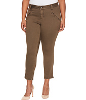 Jag Jeans Plus Size - Plus Size Ryan Skinny Freedom Colored Knit Denim in Saddle