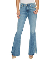 7 For All Mankind - Ali Jeans w/ Side Seam Split in Gold Coast Waves